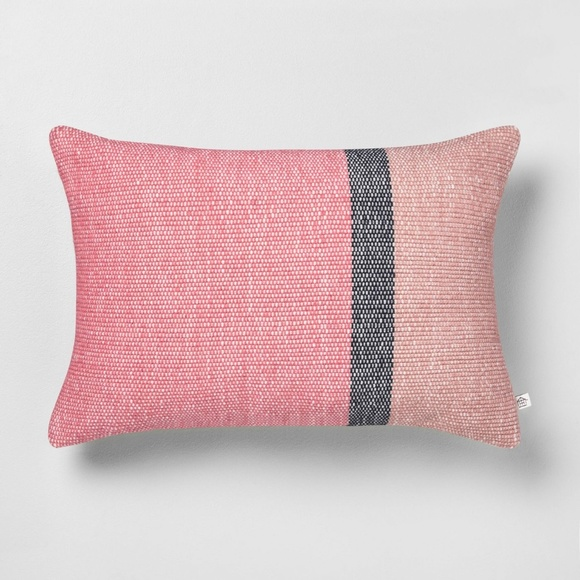 Hearth & Hand Other - Hearth & Hand Color blocked oblong Pillow Rose